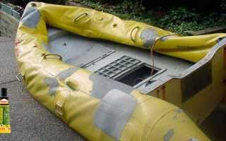 Ремонт резиновой лодки с использованием клея