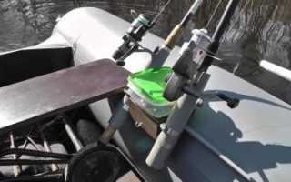 Изготовление и крепление держателя спиннинга на лодку