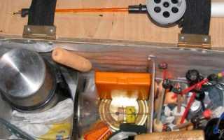 Ящик для зимней рыбалки: выбор и изготовление своими руками