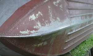 Латай дыру пока не велика, ремонт алюминиевой лодки