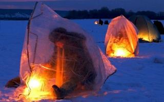 Печь для Палатки для Зимней Рыбалки. В -20° Мороза